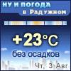 Ну и погода в Радужном - Поминутный прогноз погоды